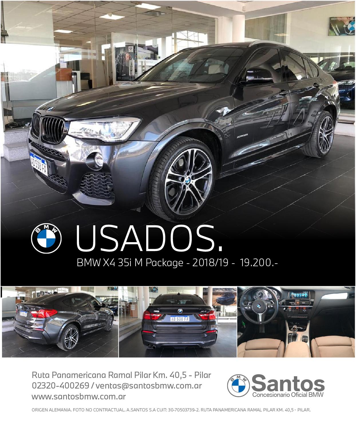 BMW X4 35i 2018